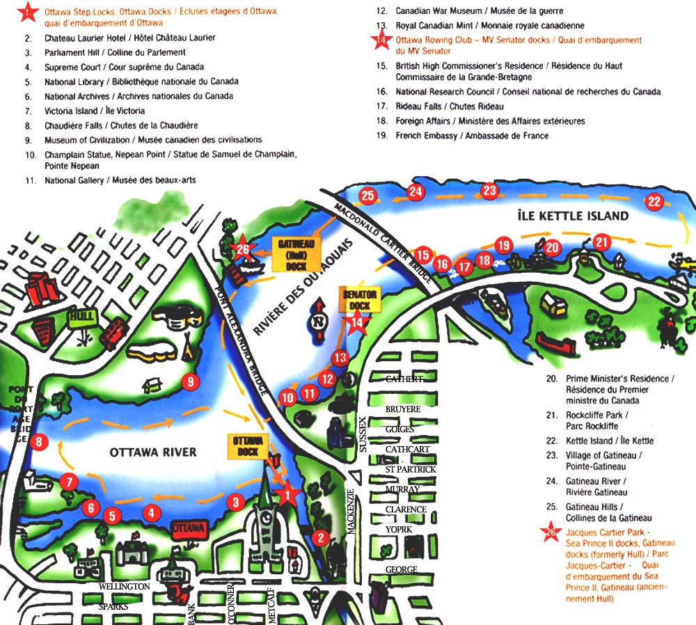 ottawa map map of ottawa ontario canada maps for ottawa – Niagara Falls Tourist Attractions Map